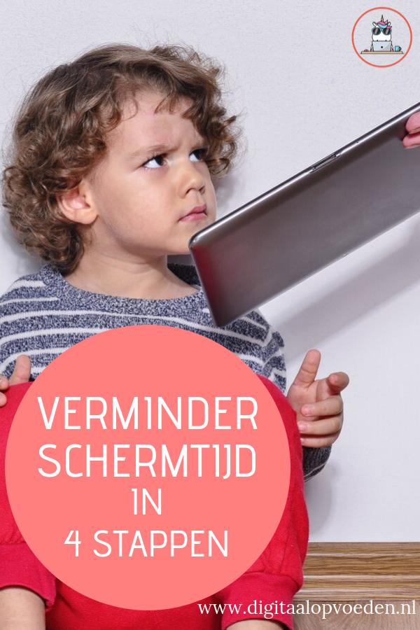 Wil je de schermtijd van je kind verminderen maar weet je niet hoe je het aan kunt pakken? Verminder schermtijd met deze vier stappen en leg een goede basis