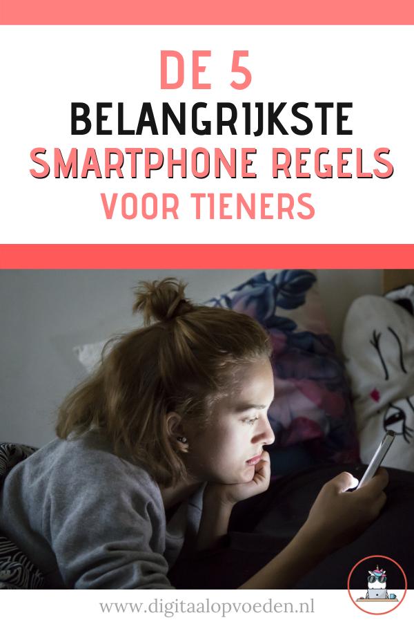 Heeft jouw tiener een smartphone? Dan is het belangrijk om smartphone regels voor je tiener af te spreken. Lees hier de 5 belangrijkste telefoon regels.